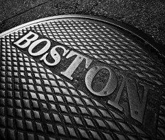 BOSTON manhole cover