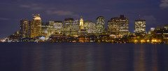 BOSTON night  skyline evening