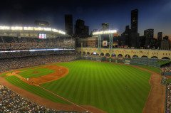 HOUSTON skyline astros minute maid stadium