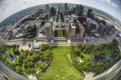 ST LOUIS clear view skyline from the Gateway Arch
