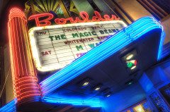 BOULDER Theater Marquise In Neon