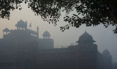 INDIA DELHI The Red Fort In Fog