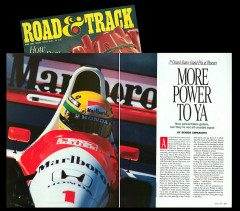 ROAD & TRACK MAGAZINE, F1 FEATURE